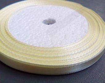 1 m beige satin ribbon