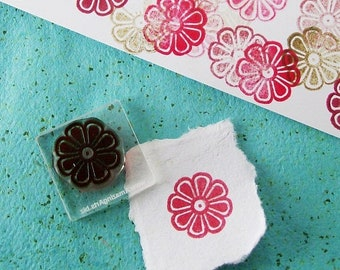 May Sale Small Flower Rubber Stamp 040