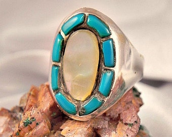 Turquoise Man's Sterling Silver Ring