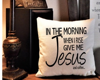 Faith Pillow, Scripture Pillow, Ranch Decor Pillow, Canvas Pillow, Farmhouse Chic, Rustic Pillow, Pillows with Words, Throw Pillow