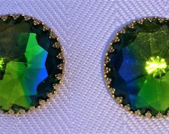 Vintage Hattie Carnegie Rivoli Clip Earrings