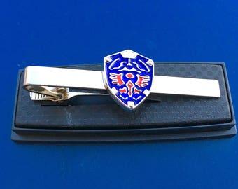 Legend of Zelda Triforce Hylian Shield Tie Clip~Free Domestic Shipping!!!