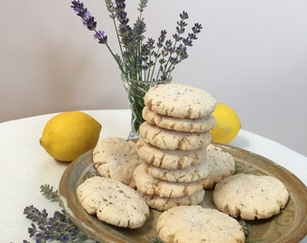 Lemon Lavender Cookies - ONE DOZEN