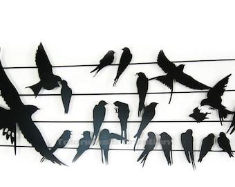 Décoration murale Birdy 90 cm - Design Jacques Lahitte © Tolonensis Creation