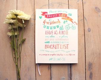 Wedding Guest Book, Bucket List Guest Book, Custom Guest Book, Fun Guestbook, Photo Guest Book, Guest Book Alternative, Custom Book