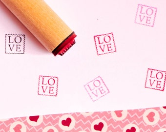 Love Postage Rubber Stamp
