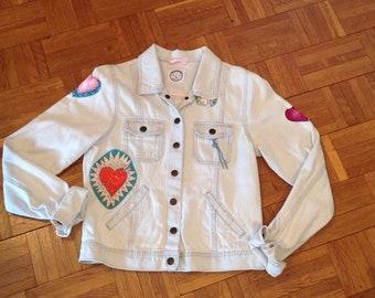 Jacket cotton mixed 12 customized hearts