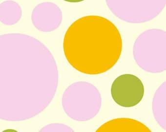 LAST YARD!  Micro Fiber Fleece Free Spirit Fabrics Heather Bailey Nicey Jane Clementine FLHB004