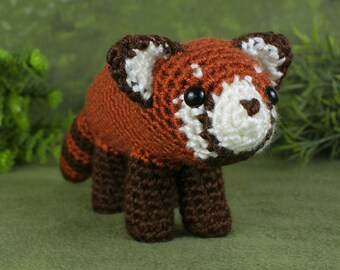 PDF Red Panda amigurumi CROCHET PATTERN