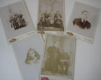 5 Newmarket N. H. Cabinet Card Photographs, by Neal, Photographer, 1800s