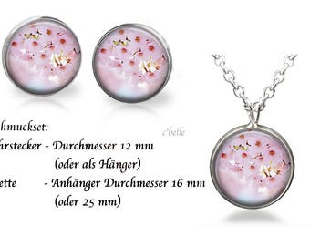 Jewelry Necklace and earrings-cherry blossoms-20