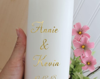 Wedding Candles Gold Unity ceremony Candle set Gold Wedding Candles Set Ceremony Custom  Set Rustic Wedding Candle Made to order foil