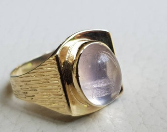 Ring gold with Rose quartz vintage
