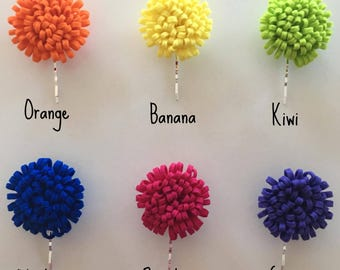 Fringe Flower Hair Pin