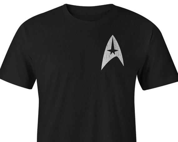 Star Trek T Shirt Left Chest Star Trek Tee Star Trek Shirts