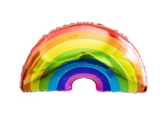 """Rainbow Balloon, 32"""", Rainbow Balloons, Balloon, balloons, Rainbow, Wizard of Oz Party, Birthday Party, Decoration, Over the Rainbow"""