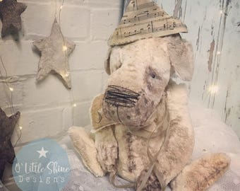 SOLD~*~Arthur the OOAK unique artist teddy bear old dog