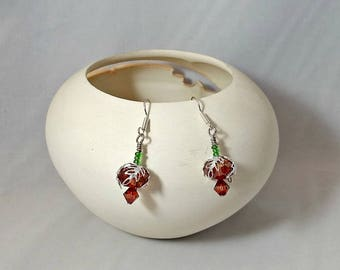 Swarovski Crystal Pomegranate Drop Earrings