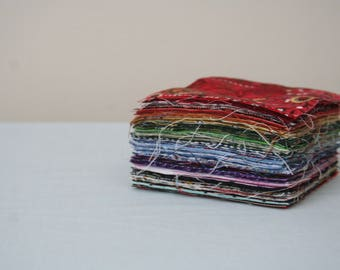 BULK 3 inch Precut Fabric Squares, 100 Squares, 100% Cotton, All Colors & Patterns