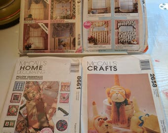 McCall's Home Decorating Sewing Patterns Bundle