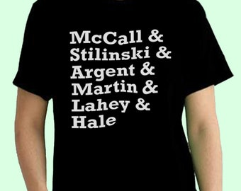 Teen Wolf Tv Show Squad Teen Wolf Inspired. Male and Female T-shirt