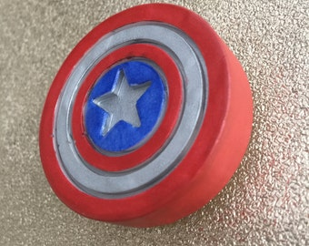 Captain America Shield Drawer Handle / Door Knob | Avengers Inspired | Home decor