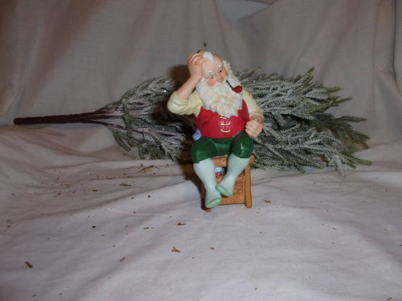 Santa Ornament,  Santa Hallmark Ornament, Santa Hallmark 1987 Ornament, Santa Christmas Tree Ornament, Ornament from 1987, Vinage Ornament