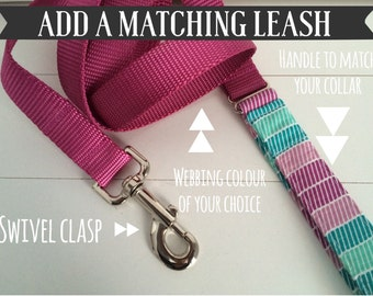 Add a Matching Nylon Leash to your Order
