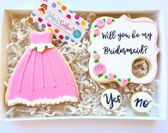 Will you be my braidsmaide/cookies/love Wedding cookies/engagement/bridal party/wedding/maid of honor/sugar cookies/bridesmaid