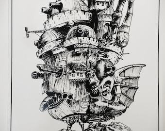 Howl's moving castle (print)