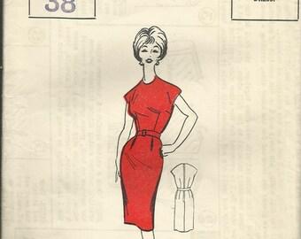 Vintage sewing pattern. Woman P121. Dress.FF unused