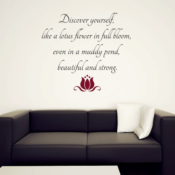 Buddhism wall quote decal with lotus flower discover mightylinksfo Choice Image