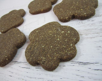 Dirty Paws Gourmet Dog Treats ~ Barkery Homemade Dog Biscuits ~ Paw Shaped Dog Cookies ~ Carob Dog Treats ~ Healthy Dog Treats ~ Dog Snacks