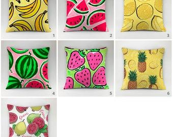Kitchen pillow cover fruit pillow case Cushion cover Decorative pillow Throw pillow kitchen decor vegetable pillow lemon pillow pineapple
