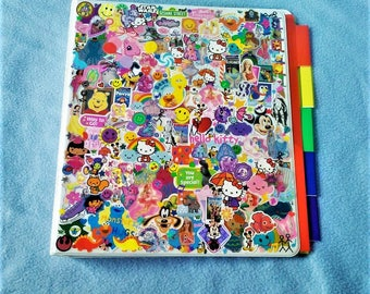 Decora Fashion Inspired Stickered My Little Pony/Hello Kitty/Disney Princess/Seasame Street Themed Binder