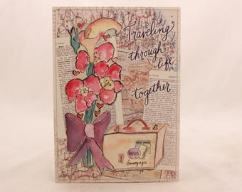 "New! Vintage ""Anniversary"" by Artemis. Single Card with Envelope.Travel"