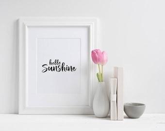 Hello Sunshine Wall Print ***DIGITAL FILE***