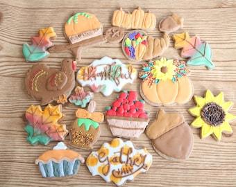 THANKSGIVING FALL AUTUMN Customizable Sugar Cookies