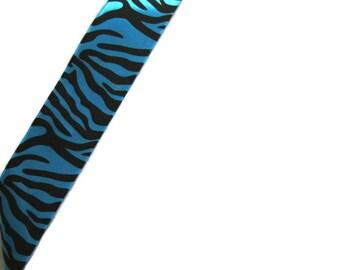 Blue Zebra Print Ribbon...4 yards