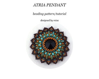 Atria Pendant - Beading Pattern/Tutorial - PDF file for personal use only
