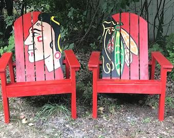 Blackhawks Adirondack Chair Set