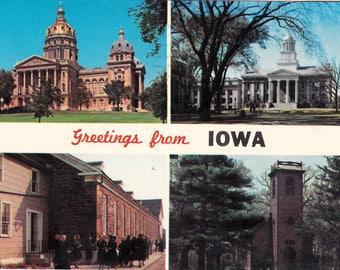 1967 Vintage Iowa Postcard UW Iowa State Capitol Collectible Iowa Memorabilia