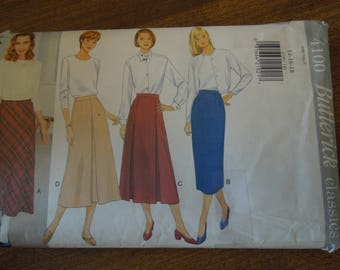 Butterick 4100, sizses 14-18, skirts, misses, womens, UNCUT sewing patterns, craft supplies