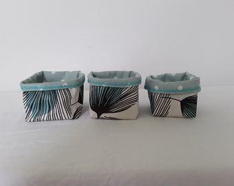 Set of 3 small fabric baskets