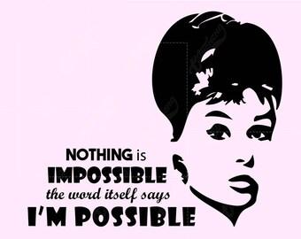 Audrey Hepburn Svg Etsy