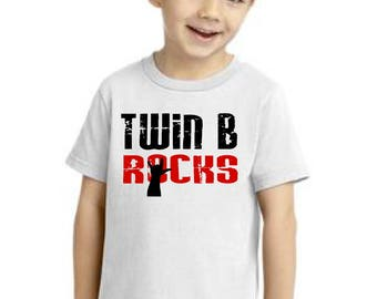 Twin B Rocks kiddy kats toddler tee