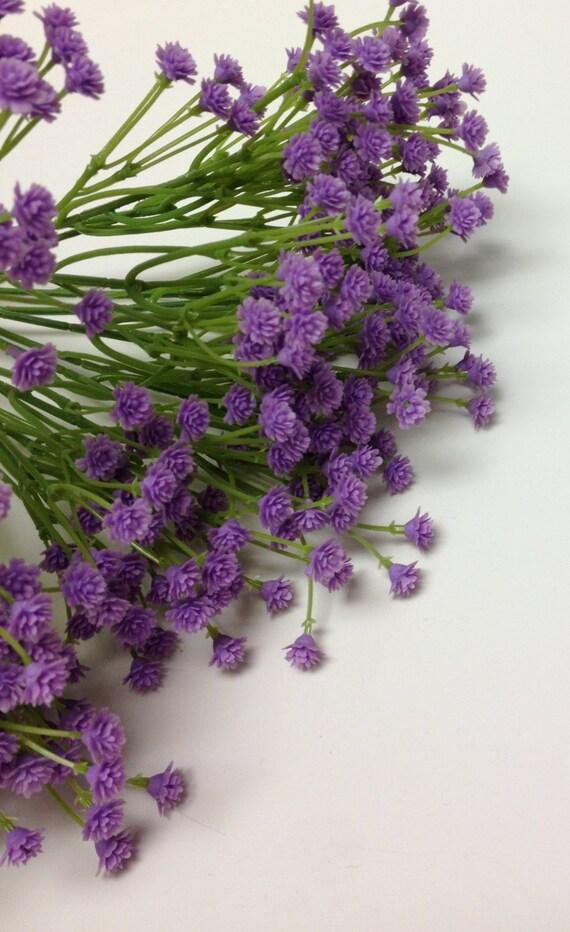 Künstliche Blume BUSH lila Kunststoff Schleierkraut