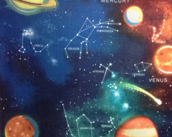 One Yard of Fabric Material - Outer Space, Planets and Constellations