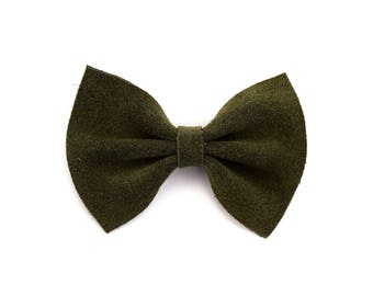 OLIVE Suede Leather Baby Headband Christmas Holiday Bow for Newborn Baby Child Little Girl Adult Adorable Photo Prop Easter Clip
