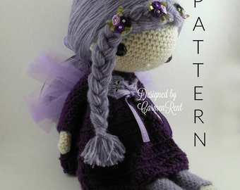 "Fairy Lola 17""-Amigurumi Doll Crochet Pattern"